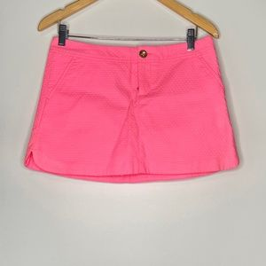 Lilly Pulitzer Neon Pink Mini Skirt w/Shorts NWT